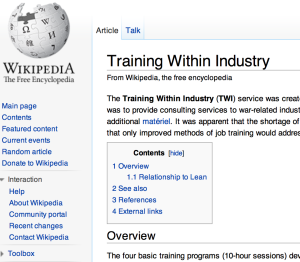 Wikipedia TWI